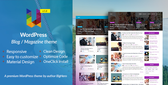 Unick – WordPress Blog / Magazine Material Design Theme