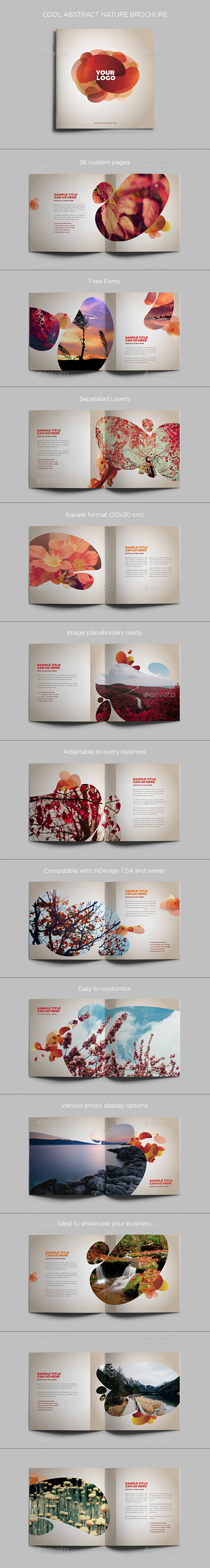 Cool Abstract Nature Brochure - Brochures Print Templates