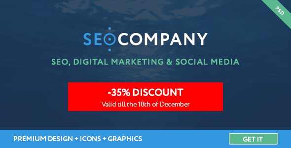 SEO – Seo Company – Digital Agency PSD Template