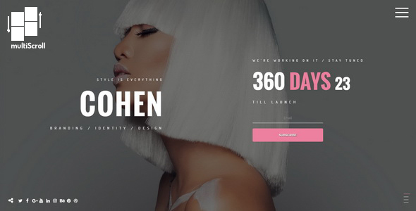 Cohen || Premium Under Construction Template - Under Construction Specialty Pages