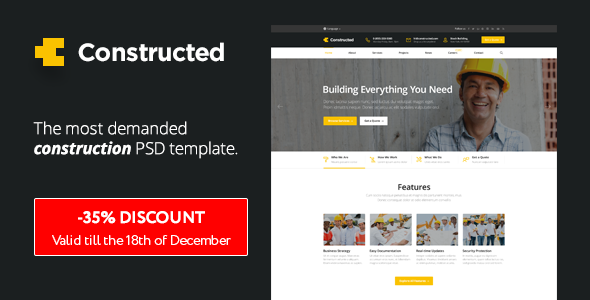 Constructed – Construction PSD Template
