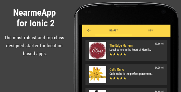 NearmeApp - Ionic 2 Starter for Location Based Apps - CodeCanyon Item for Sale