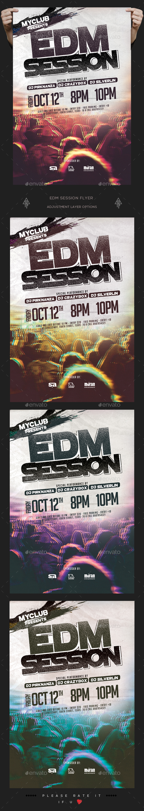 EDM Session Flyer - Clubs & Parties Events