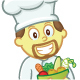Chef with Bucket of Vegetables Cartoon - GraphicRiver Item for Sale