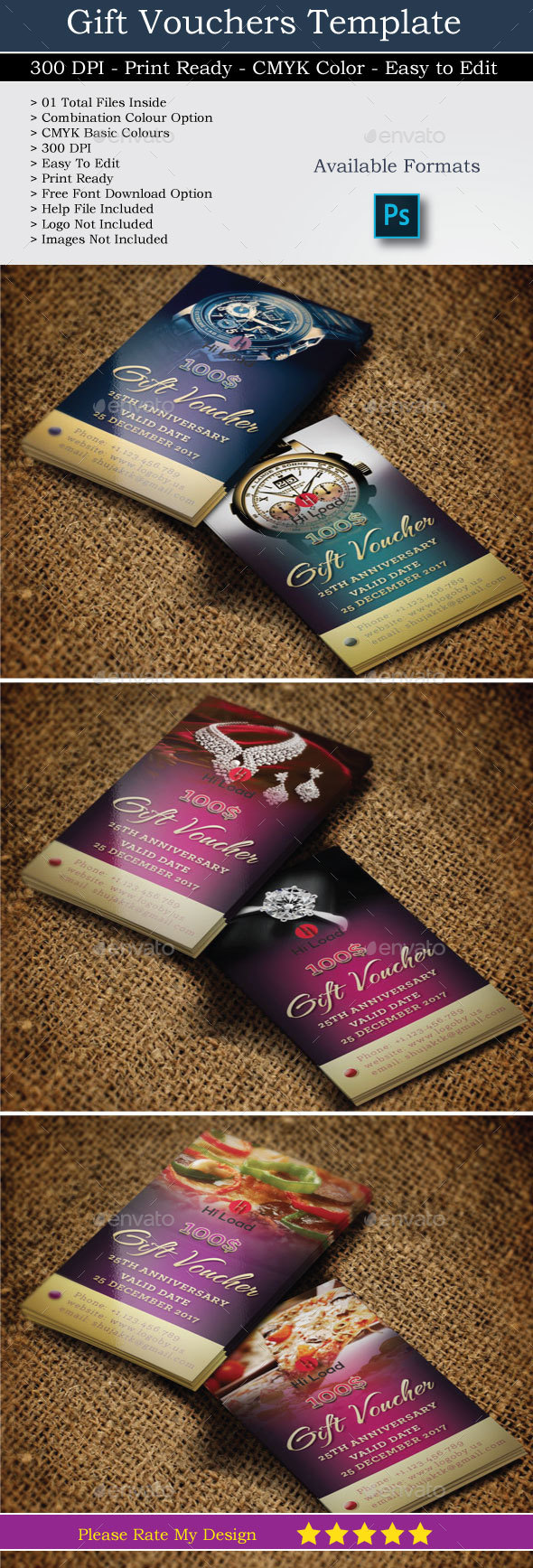 Gift Voucher - Cards & Invites Print Templates