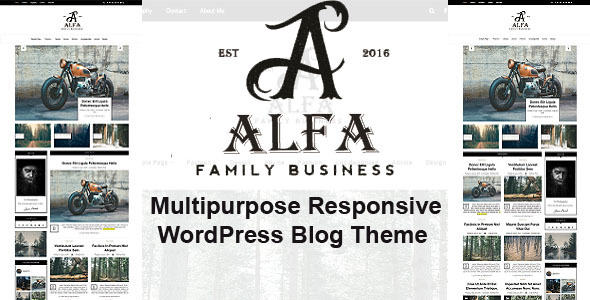 Alfa - Multipurpose Responsive WordPress Blog & Shop Theme - Personal Blog / Magazine