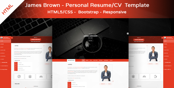 James Brown – Personal Resume & Portfolio Template