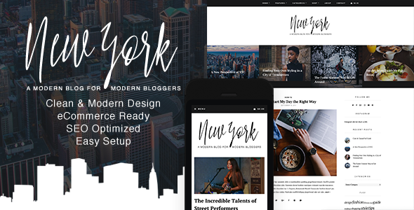 New York – WordPress Blog & Shop Theme