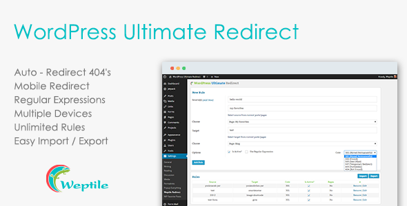 WordPress Ultimate Redirect Plugin - CodeCanyon Item for Sale