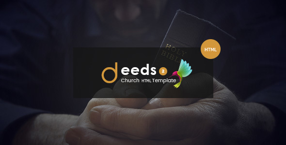 Deeds2 - An HTML Template for Church Websites and NonProfit Organizations