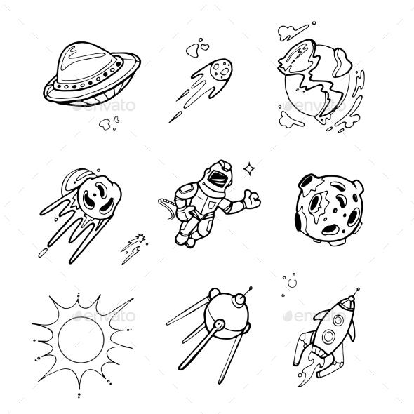 Space Set - Miscellaneous Vectors