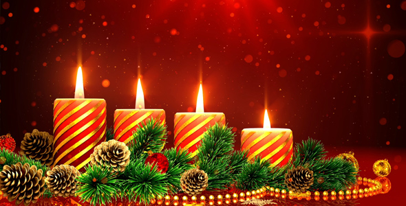 Christmas Candles Background By AS_100
