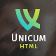 Unicum - One Page Creative HTML Template Nulled