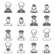 People Occupations Icons Cook Avatar Profile - GraphicRiver Item for Sale