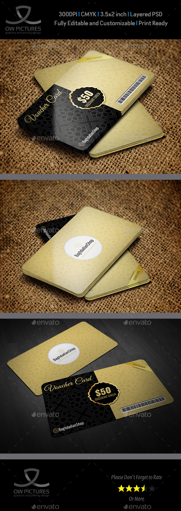 Gift  Voucher Card Template Vol 24 - Cards & Invites Print Templates