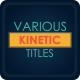 Various Kinetic Titles Pack - VideoHive Item for Sale