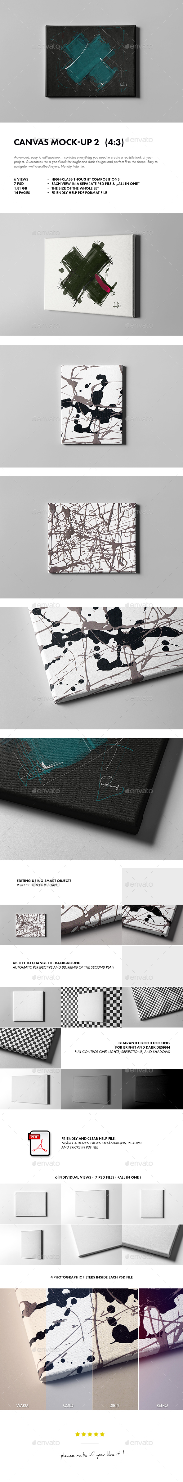 Canvas Mock-up 2 - Miscellaneous Product Mock-Ups