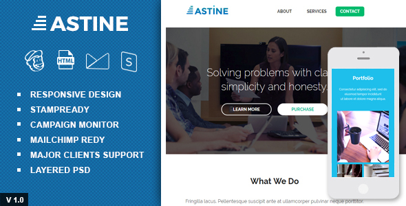 Astine – Responsive Email and Newsletter Template