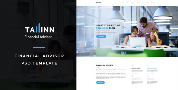 Tallinn : Financial Advisor PSD Template