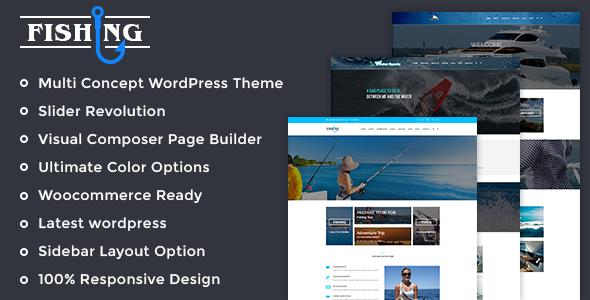 Fishing Yacht Water Sports - Fishing Club Wordpress Theme - Business Corporate