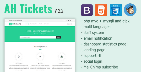 AH Tickets - Help Desk and Support System - CodeCanyon Item for Sale