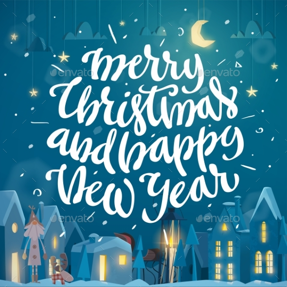 Merry Christmas and Happy New Year Card - Christmas Seasons/Holidays