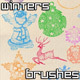 Winters Holiday Brushes - GraphicRiver Item for Sale