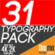 31 Typo Pack - VideoHive Item for Sale