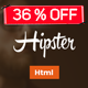 Hipster Responsive Landing Page-4 Versions - ThemeForest Item for Sale