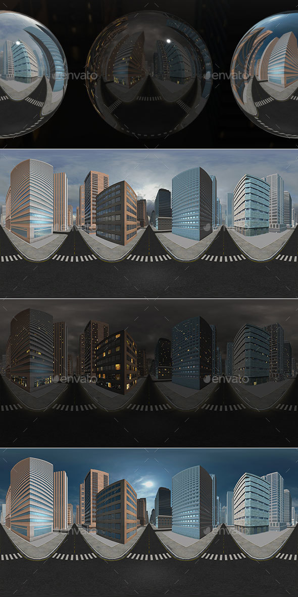 HDRI City Pack Layout1 V1 - 3DOcean Item for Sale