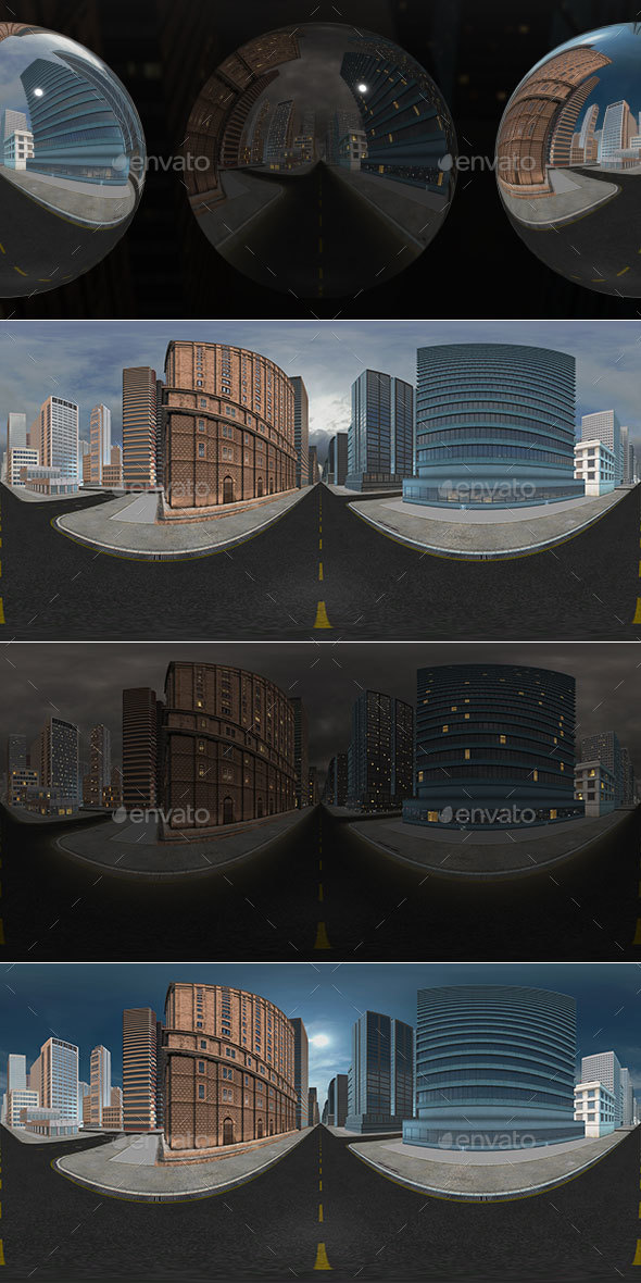 HDRI City Pack Layout1 V2 - 3DOcean Item for Sale