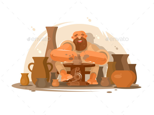Potter Bearded Man - People Characters