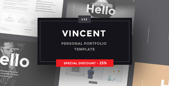 Vincent – Personal Portfolio Template