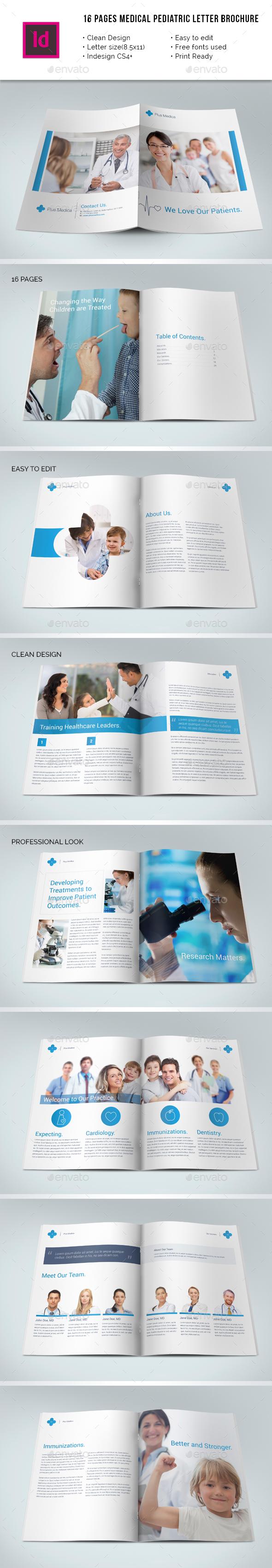 Medical Pediatric Portrait Letter Brochure - Corporate Brochures