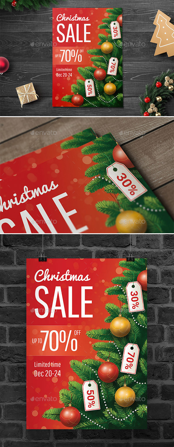 Christmas Sale Flyer/Poster - Commerce Flyers