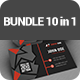 Corporate Business Cards BUNDLE 10 in 1 - GraphicRiver Item for Sale