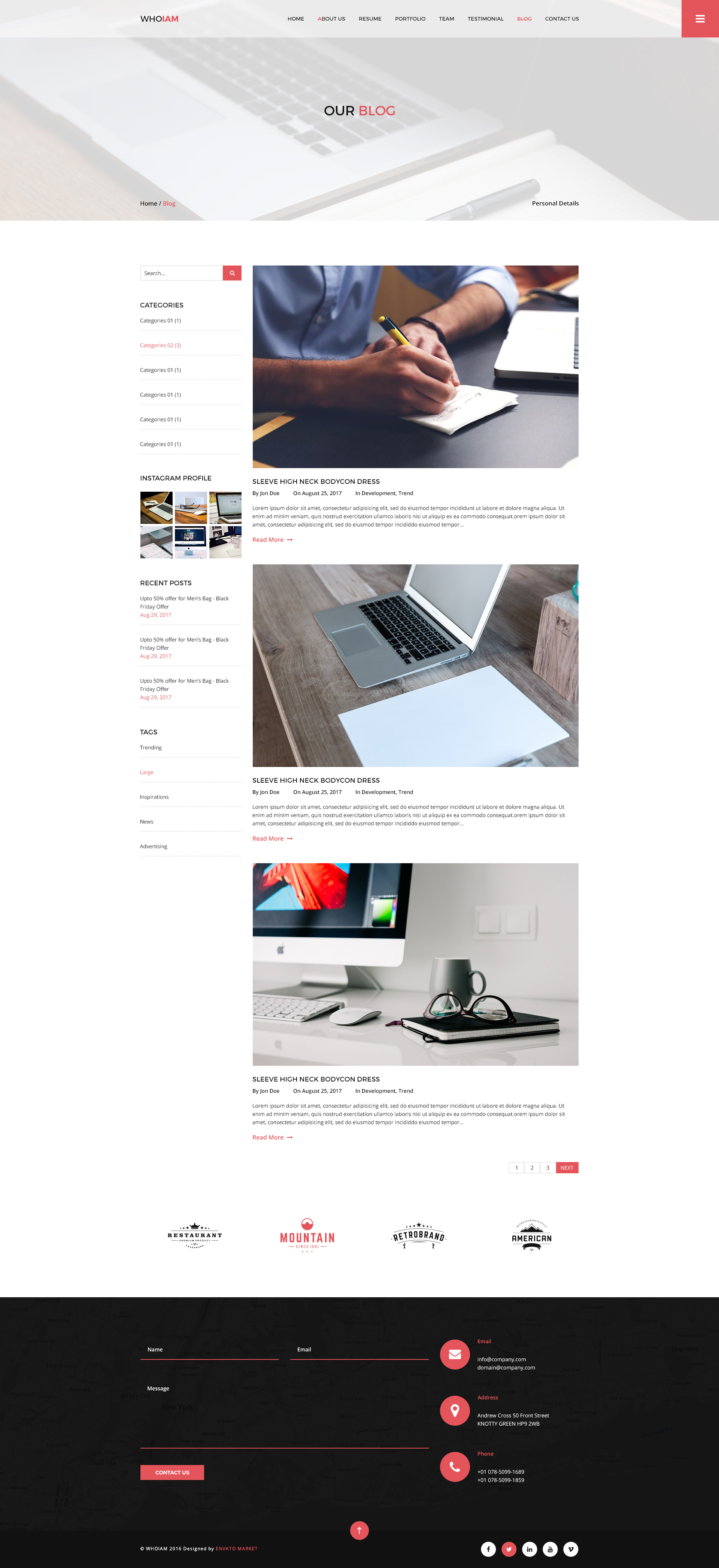 whoiam creative portfolio  u0026 resume cv psd template by mine