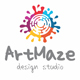 Art Maze Creative Splash Logo