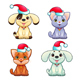 Funny Christmas Dogs and Cats - GraphicRiver Item for Sale