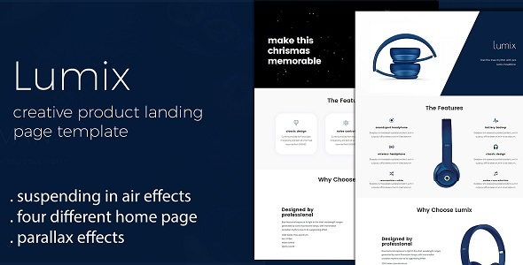 Lumix - Product Landing Page Template