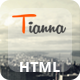 Tianna - One Page HTML5 Template - ThemeForest Item for Sale