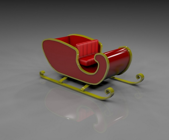 Christmas Sleigh - 3DOcean Item for Sale