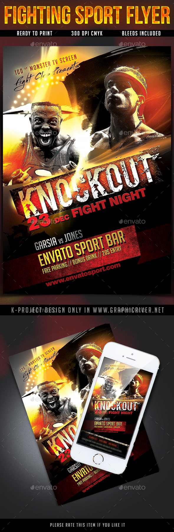 Fighting Sport Flyer - Sports Events