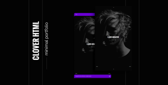 Clover – creative and modern template html5