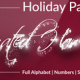 Holiday Particles - Animated Handwritten Font - VideoHive Item for Sale