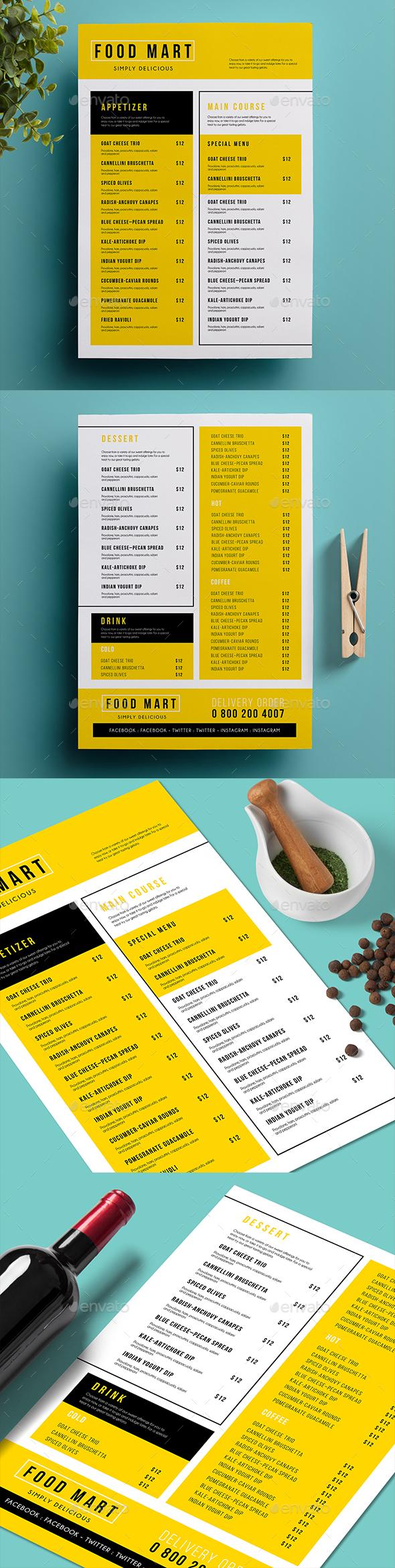 Simple Menu 02 - Food Menus Print Templates
