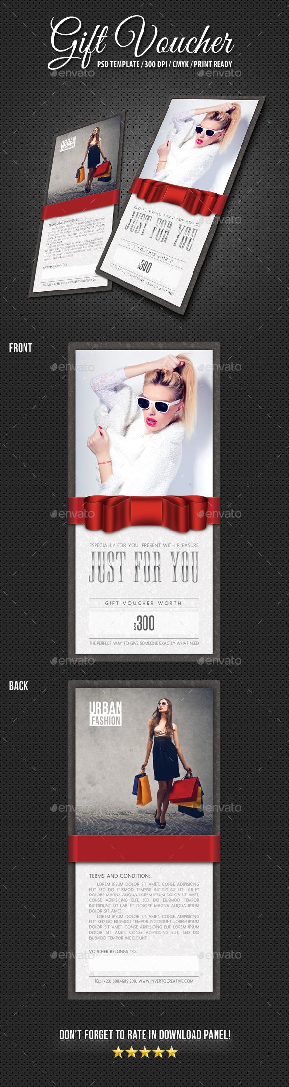 Gift Voucher Boutique - Cards & Invites Print Templates
