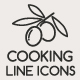 Food and Cooking Line Icons - GraphicRiver Item for Sale