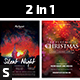 Silent Night & Purpose of Christmas Church Flyers - GraphicRiver Item for Sale