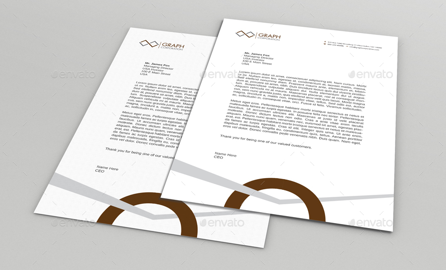 how to set up letterhead in word